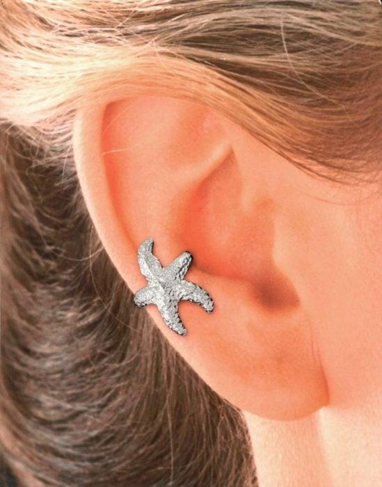 Arete para oreja de estrella de mar