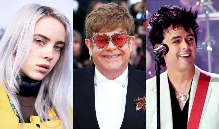 Billie Eilish, Elton John y Billie Joe Armstrong