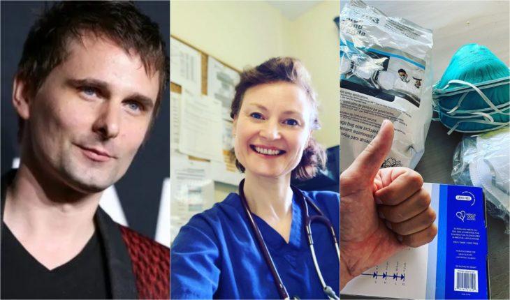Matthew Bellamy donando suministros de salud a hospitales