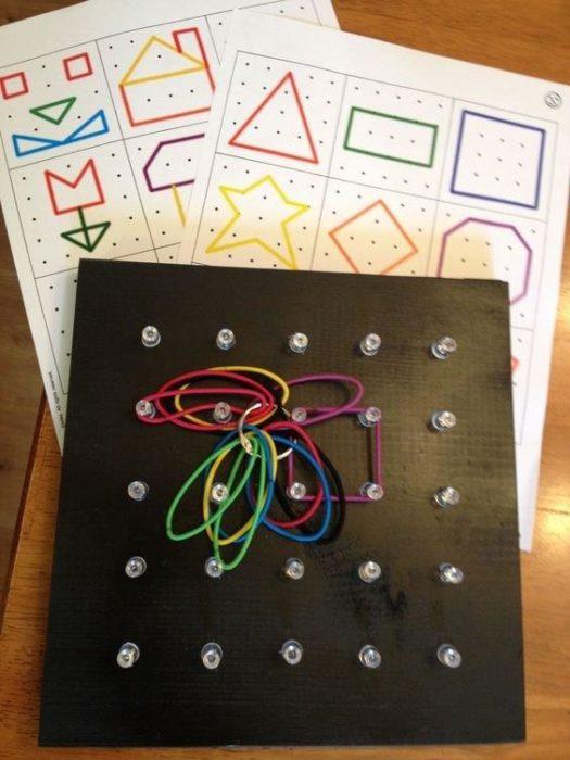 Juguete educativo Montessori para crear figuras geométricas