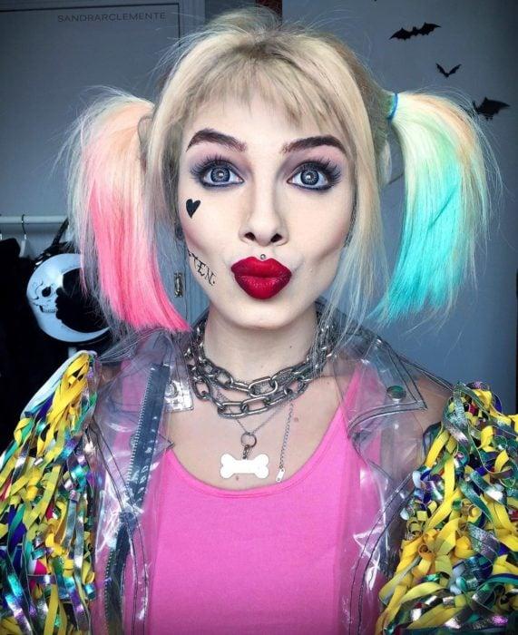 Recreación de maquillaje de Harley Queen