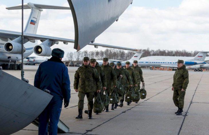 Ayuda militar enviada desde rusia para italia
