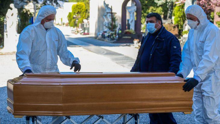 Muertes que ha dejado el covid-19 en Italia