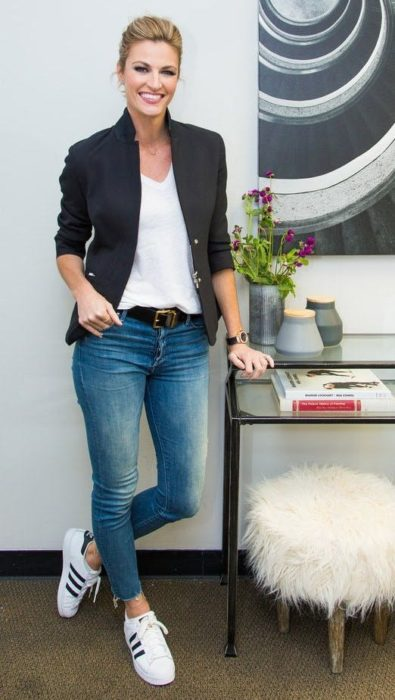 Outfit con jeans tipo denim