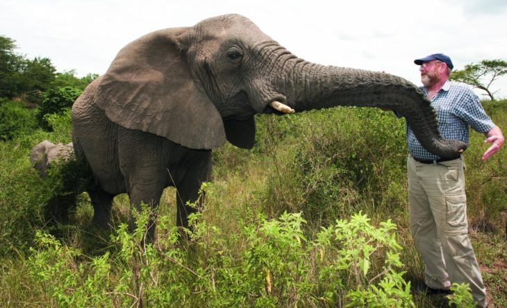 Lawrence y la elefanta Nana