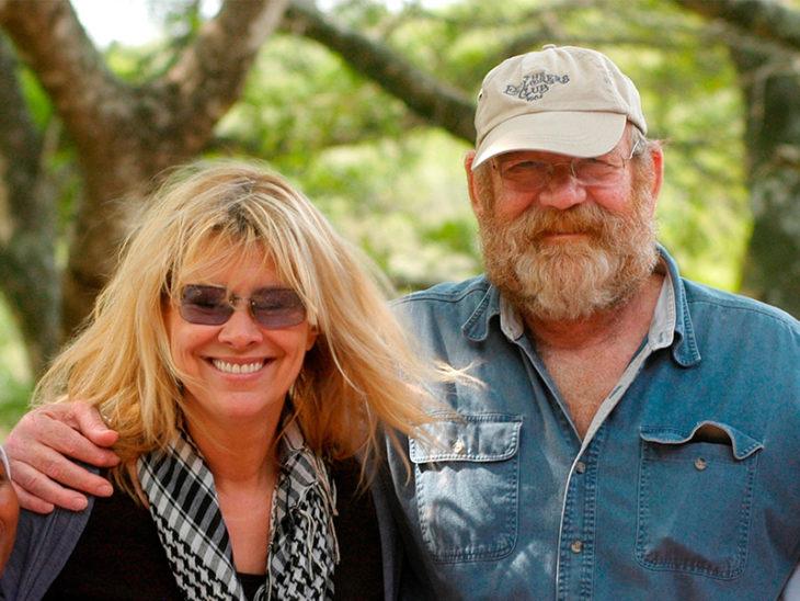 Lawrence y su esposa en el refugio de Thula Thula