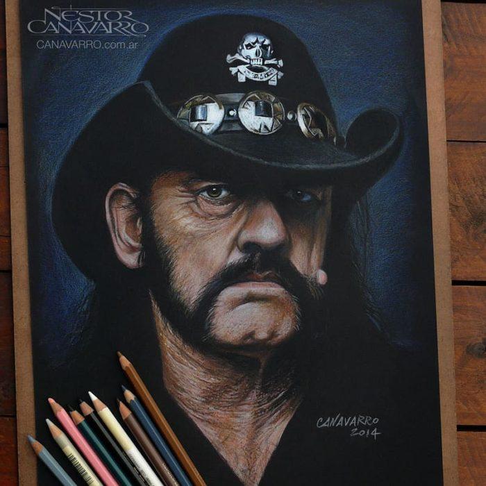 Dibujo creado con colores de Lemmy