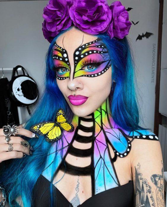 Recreación de maquillaje de Mariposa