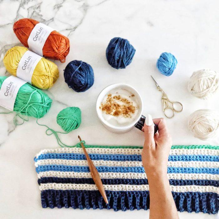 Material de para tejer a crochet