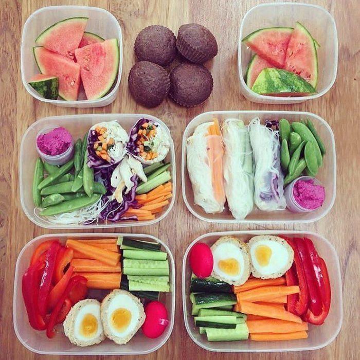 Comida preparada para varios de la semana