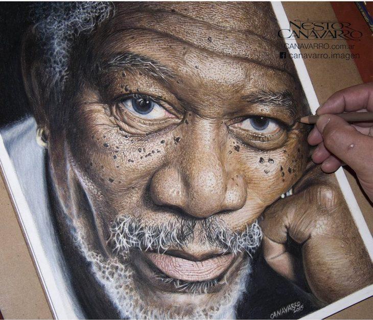 Dibujo creado con colores de Morgan Freeman
