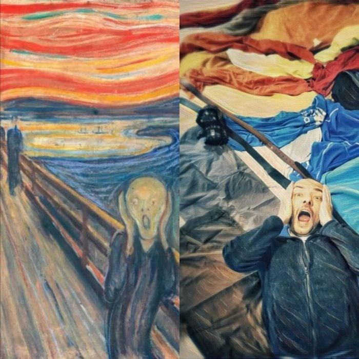 Replica de El grito, de Edvard Munch
