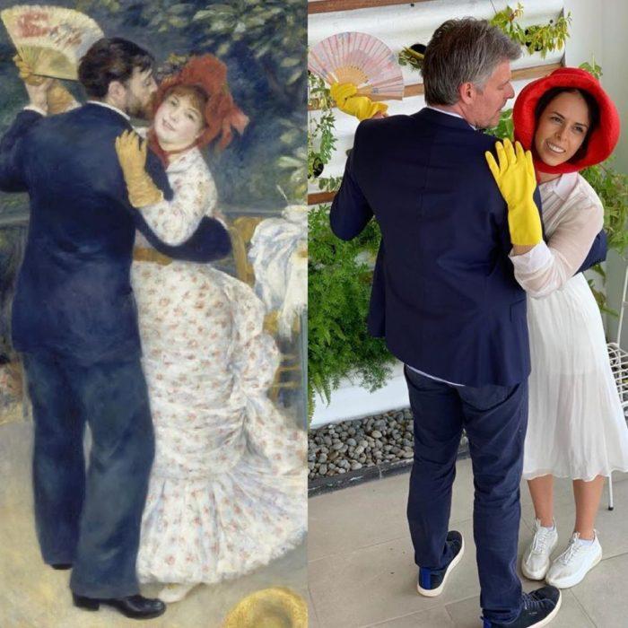 Replica de Baile en el campo de Pierre-Auguste Renoir