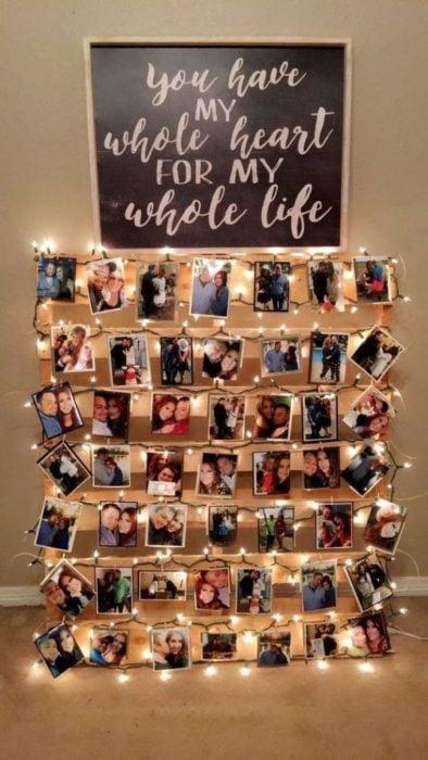 Photo wall con luces