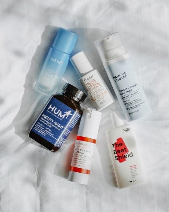 Productos de skin care para rutina de mañana y de noche