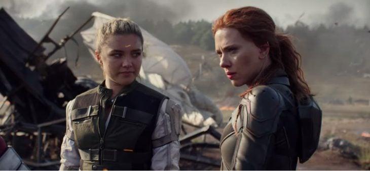 Scarlett Johansson y Forence Pug en Black Widow