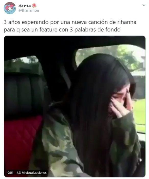 Tuit sobre la nueva canción de Rihanna Belive It