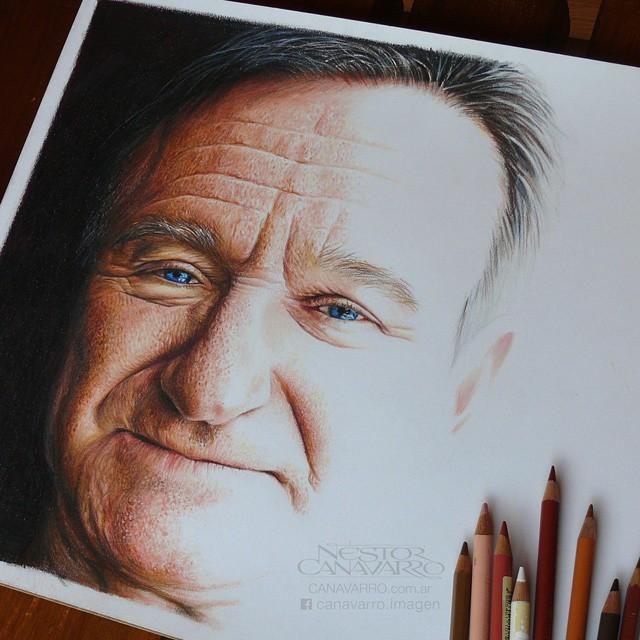 Dibujo creado con colores de Robin Williams