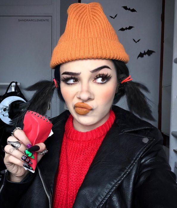 Recreación de maquillaje de Spinelli