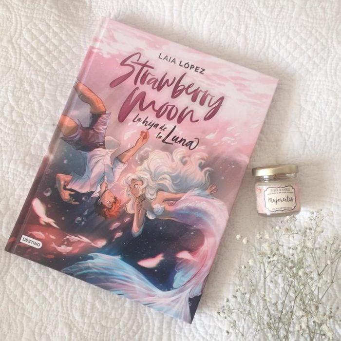 Portada de libro de Strawberry moon de Laia López