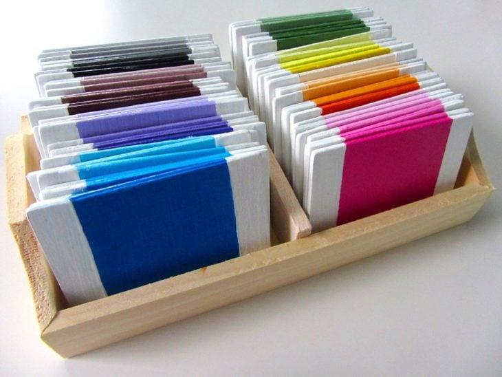 Tabletas de colores, juguete educativo montessori