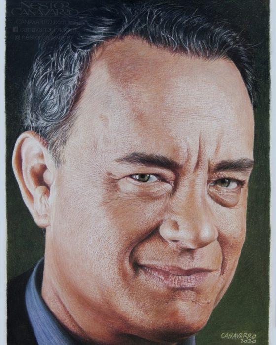 Dibujo creado con colores de Tom Hanks