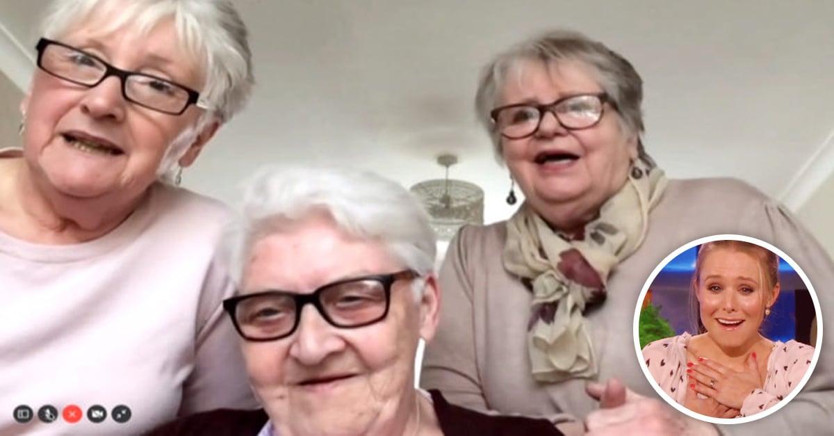 Para cuidarse en la cuarentena, abuelitas se van a vivir juntas