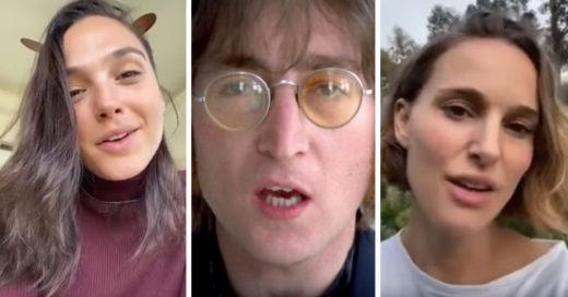 Famosos unen sus voces al ritmo de 'Imagine' durante la cuarentena