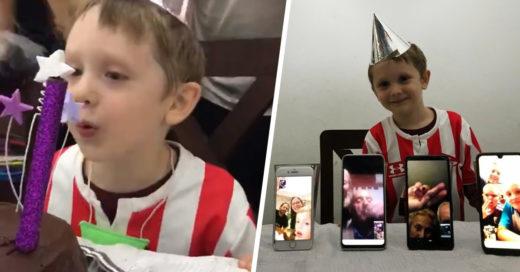 No importó la cuarentena, su familia estuvo presente para su cumpleaños