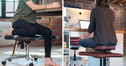 Al fin alguien diseñó una silla para sentarnos con las piernas cruzadas