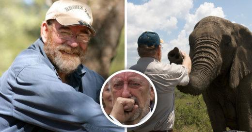 Una manada de elefantes viaja para el funeral del hombre que los cuidó por años