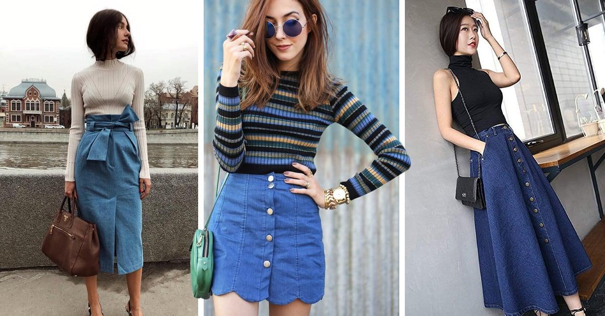 Viste con estilo la tendencia de las faldas denim,¡te fascinará!