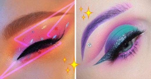 15 Maquillajes inspirados en el espacio para ser la estrella de la fiesta
