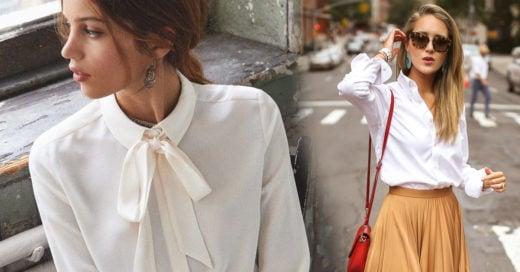 22 Maneras de usar blusas blancas sin verte demasiado formal