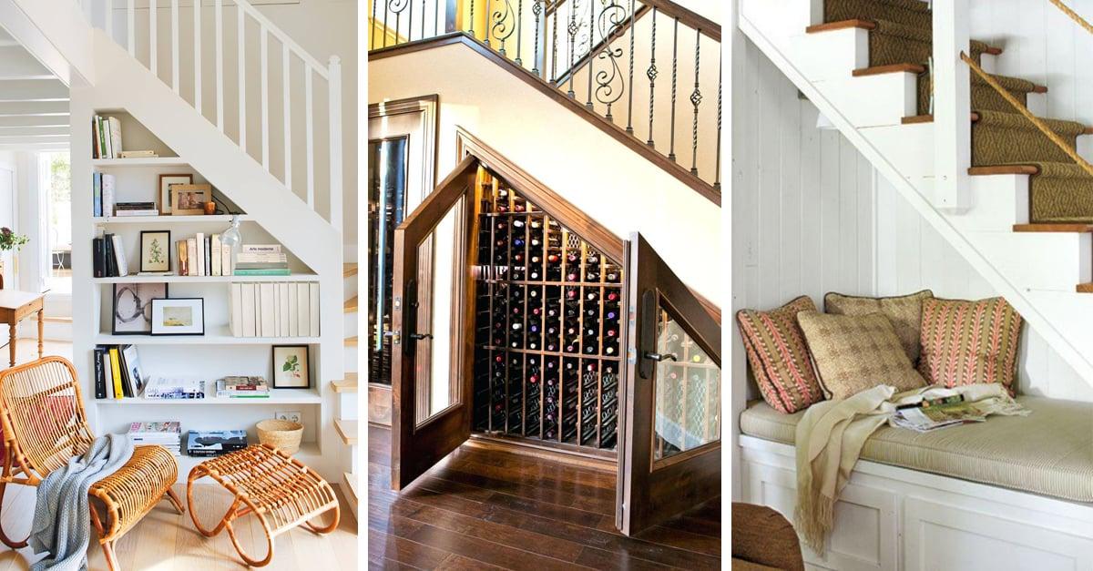 15 Formas de sacarle provecho a ese espacio bajo las escaleras
