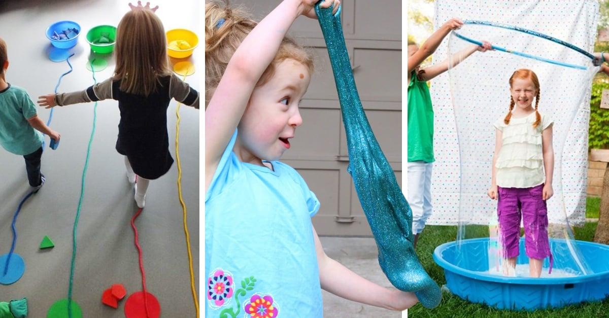 11 Ideas para que los niños se diviertan en casa