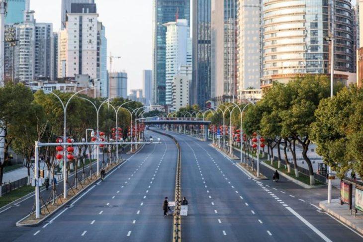 Ciudad de China solas por el aislamiento del Covid-19