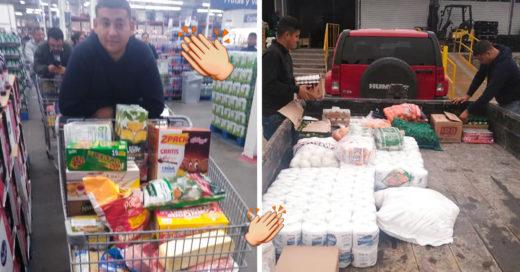 Este joven empresario pensó en la economía de sus empleados y les regaló despensas