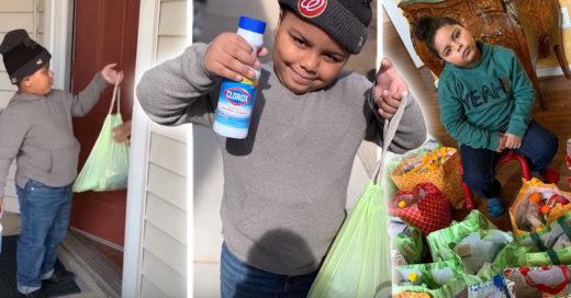 Niño usa los ahorros de su vida para ayudar a los abuelitos