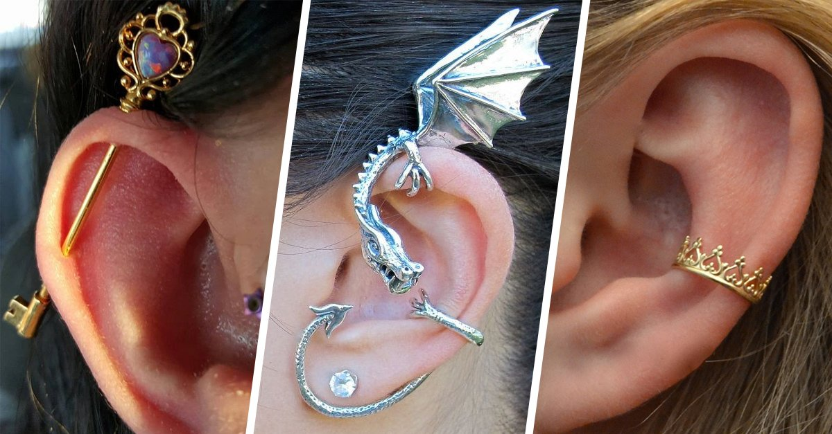 15 Preciosas perforaciones en la oreja que te fascinarán