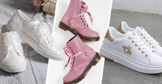 20 Lindos pares de tenis y botas perfectos para el día de tu boda