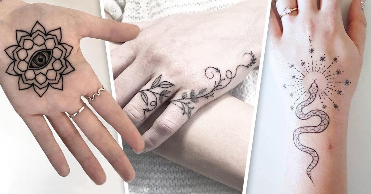 17 Tatuajes para las manos tan lindos y discretos que tu mamá no te regañará