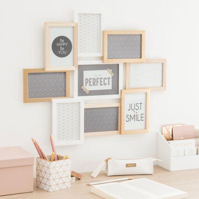 DIY de marcos de fotografías con mensajes diferentes