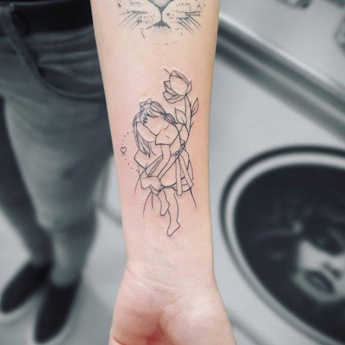 Tatuaje de madre e hija