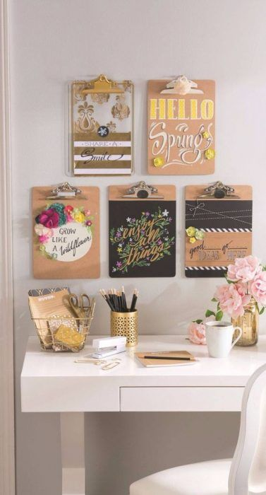 DIY de tablas de escritura con fotos o mensajes colocados en ellas