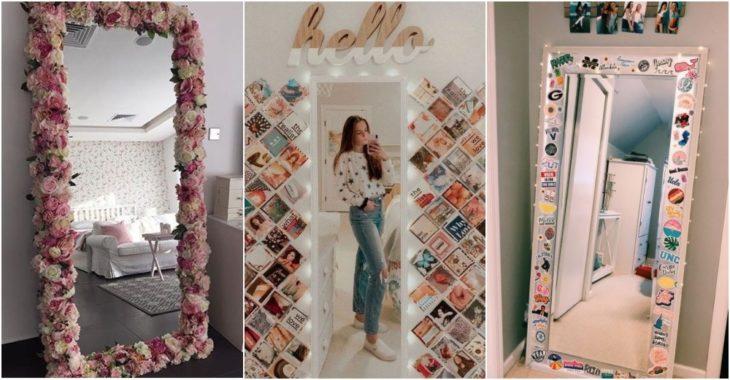 Marcos de espejo decorados con flores