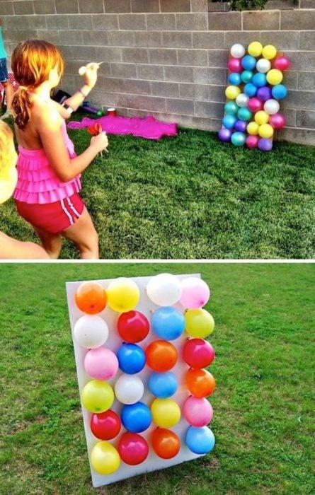 Minijuegos de feria para tronar globos de colores