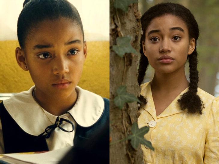 Actores jóvenes de la Generación Z antes y después; Amandla Stenberg, Colombiana, Where Hands Touch