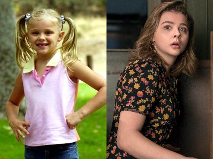 Actores jóvenes de la Generación Z antes y después; Chloë Grace Moretz, El corazón del espectador, La viuda