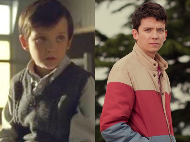 Actores jóvenes de la Generación Z antes y después; Asa Butterfield, El hijo de la hermandad, Sex education